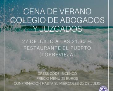 CENA DE VERANO COLEGIO DE ABOGADOS Y JUZGADOS