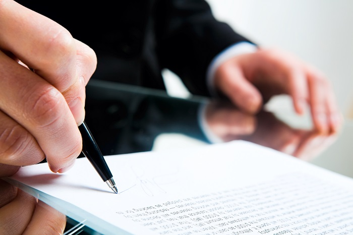 Signing Business Document