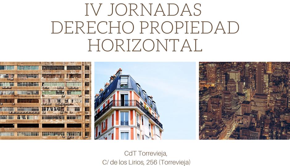 ICA ORIHUELA IV JORNADAS DERECHO PROPIEDAD HORIZONTAL